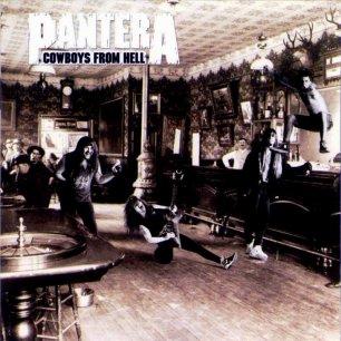 Paroles de chansons et pochette de l'album Cowboys from hell de Pantera