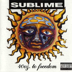 Paroles de chansons et pochette de l'album 40 oz. to freedom de Sublime