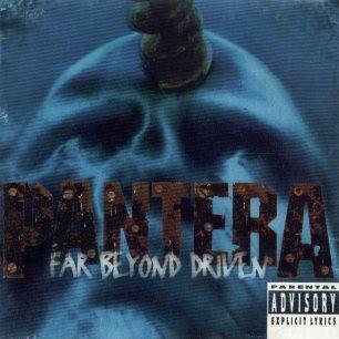 Paroles de chansons et pochette de l'album Far beyond driven de Pantera