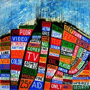 Paroles de chansons et pochette de l'album Hail to the thief de Radiohead