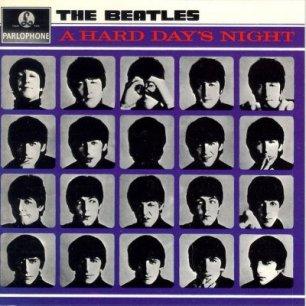 Paroles de chansons et pochette de l'album A hard day's night de Beatles