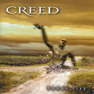 Paroles de chansons et pochette de l'album Human clay de Creed