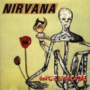 Paroles de chansons et pochette de l'album Incesticide de Nirvana