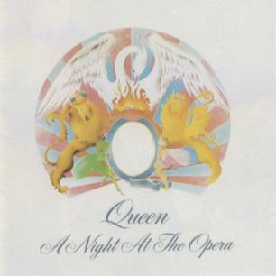 Paroles de chansons et pochette de l'album A night at the opera de Queen