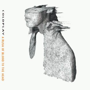 Paroles de chansons et pochette de l'album A rush of blood to the head de Coldplay