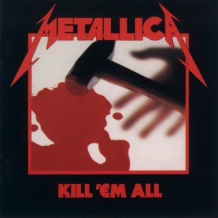 Paroles de chansons et pochette de l'album Kill 'em all de Metallica