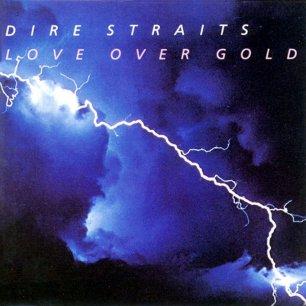 Paroles de chansons et pochette de l'album Love over gold de Dire Straits