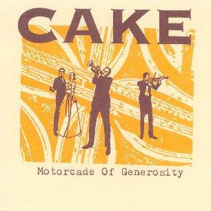 Paroles de chansons et pochette de l'album Motorcade of generosity de Cake