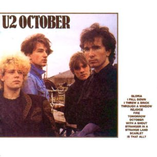 Paroles de chansons et pochette de l'album October de U2