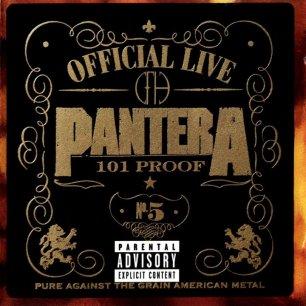 Paroles de chansons et pochette de l'album Official live : 101 proof de Pantera