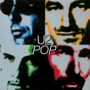 Paroles de chansons et pochette de l'album Pop de U2