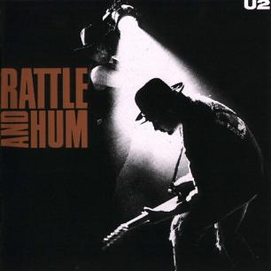 Paroles de chansons et pochette de l'album Rattle and hum de U2