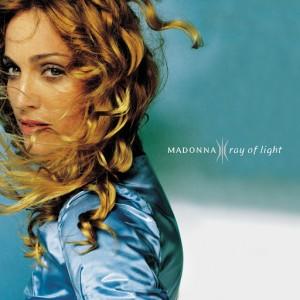 Paroles de chansons et pochette de l'album Ray of light de Madonna