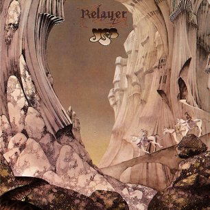 Paroles de chansons et pochette de l'album Relayer de Yes