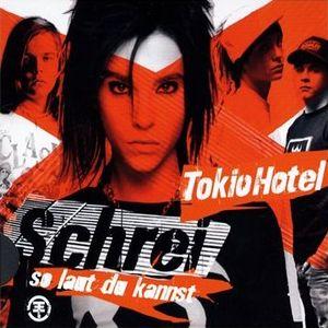 Paroles de chansons et pochette de l'album Schrei de Tokio Hotel