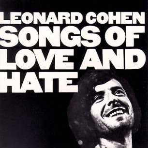 Paroles de chansons et pochette de l'album Songs of love and hate de Leonard Cohen