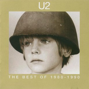 Paroles de chansons et pochette de l'album The best of 1980-1990 de U2