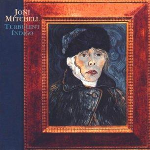Paroles de chansons et pochette de l'album Turbulent indigo de Joni Mitchell