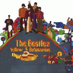 Paroles de chansons et pochette de l'album Yellow submarine de Beatles