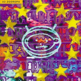Paroles de chansons et pochette de l'album Zooropa de U2