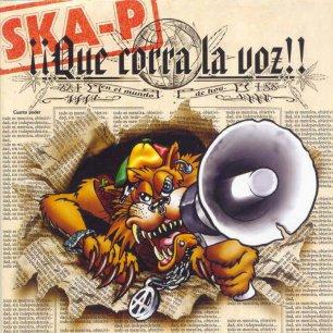 Paroles de chansons et pochette de l'album ¡¡que corra la voz!! de Ska-P