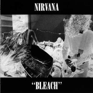 Paroles de chansons et pochette de l'album Bleach de Nirvana