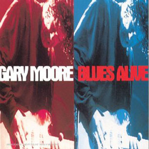Paroles de chansons et pochette de l'album Blues alive de Gary Moore